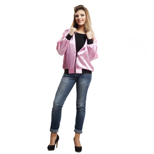 chaqueta pink lady mujer 1 - CAZADORA PINK LADY GREASE MUJER