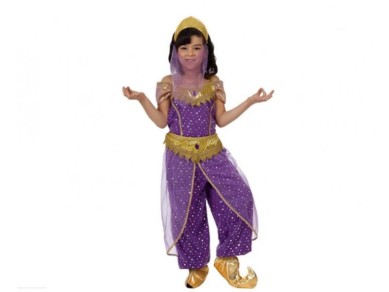 disfraz árabe morado niña - DISFRAZ DE ARABE MORADO NIÑA
