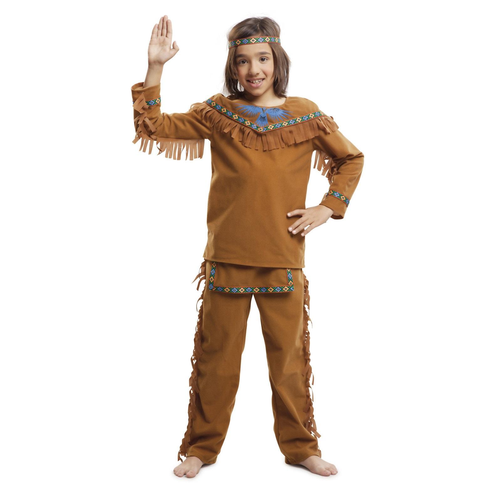 disfraz índio marrón bebé niño 203393mom - DISFRAZ DE INDIO MARRON BEBE NIÑO