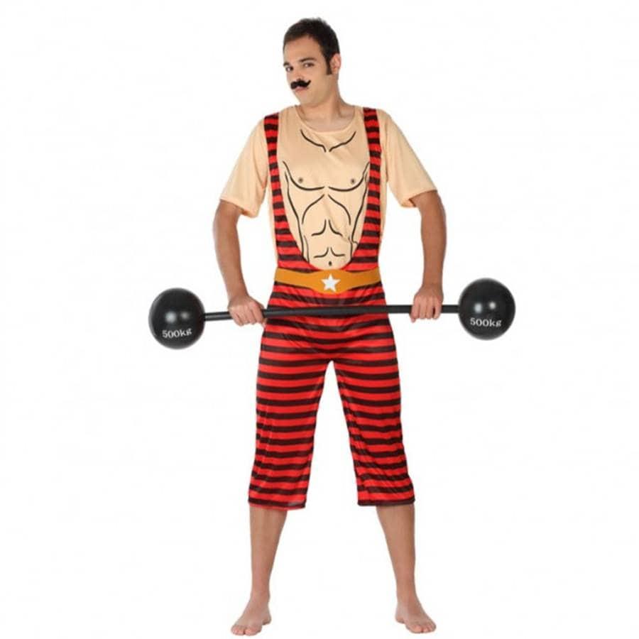 disfraz adulto forzudo de circo talla m 1 - DISFRAZ DE FORZUDO