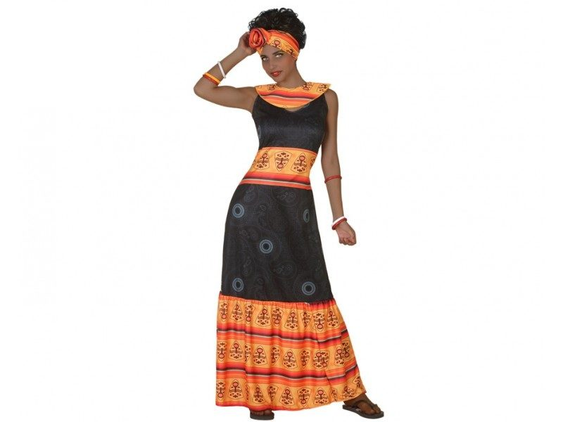 disfraz africana mujer 800x600 - DISFRAZ DE AFRICANA MUJER