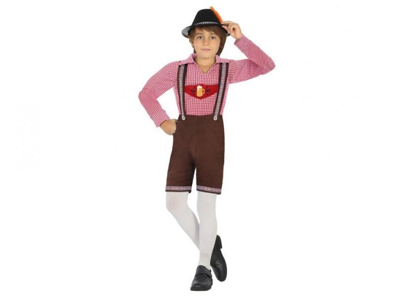 disfraz alemán tirolés terciopelo niño - DISFRAZ DE ALEMAN TIROLES NIÑO