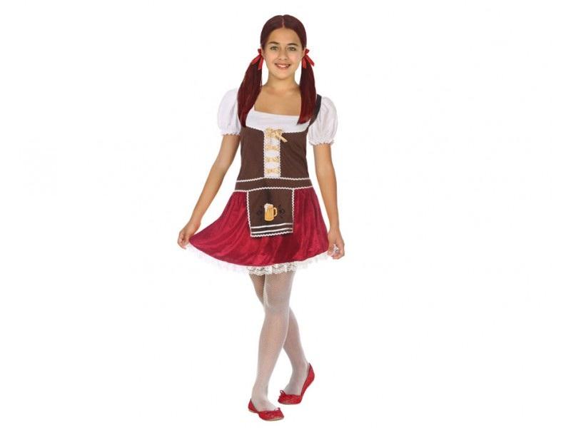 disfraz alemana tirolesa terciopelo niña - DISFRAZ DE ALEMANA TIROLESA NIÑA