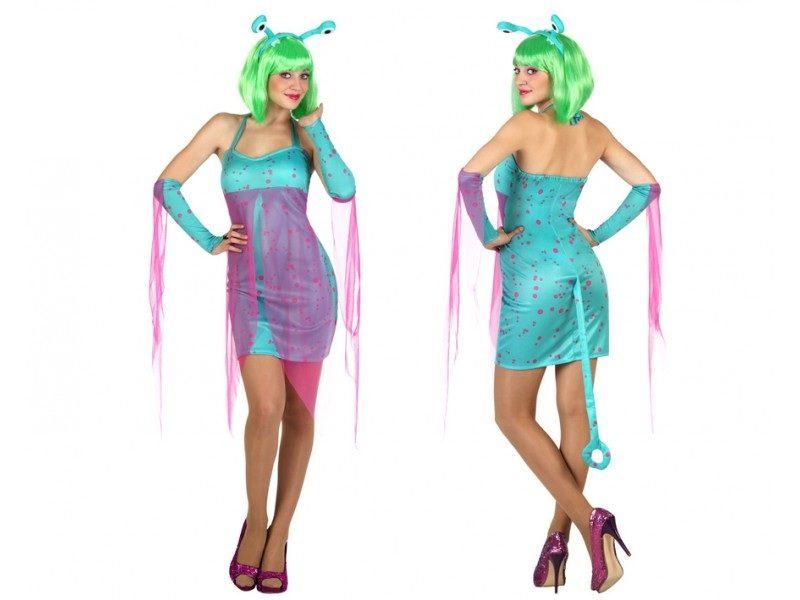 disfraz alien azul mujer. 800x600 - DISFRAZ ALIEN EXTRATERRESTRE AZUL MUJER
