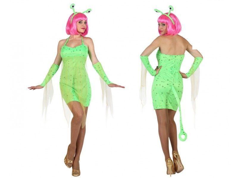 disfraz alien verde mujer 800x600 - DISFRAZ DE ALIEN EXTRATERRESTRE VERDE MUJER