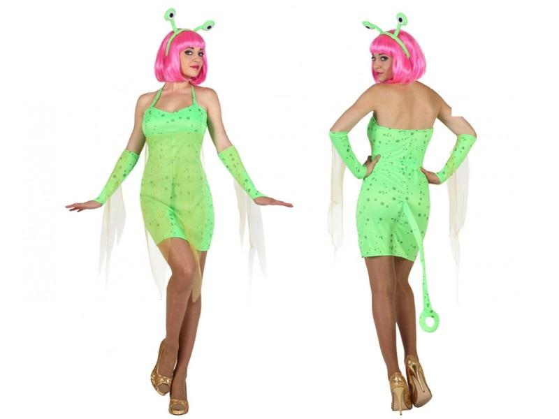 disfraz alien verde mujer - DISFRAZ DE ALIEN EXTRATERRESTRE VERDE MUJER
