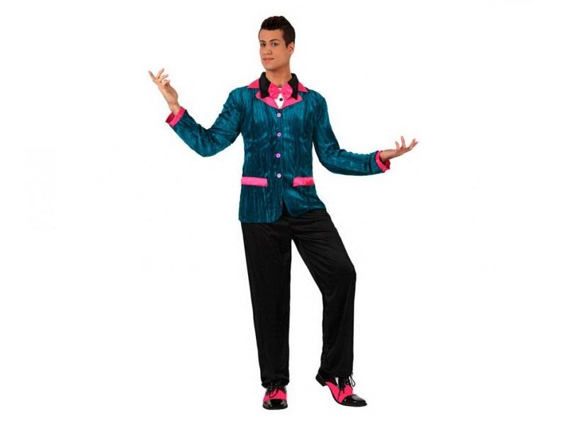 disfraz anos 50 rosa hombre - DISFRAZ DE LOS AÑOS 60 ROSA HOMBRE