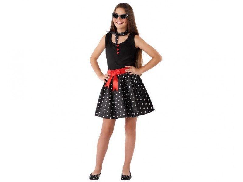 disfraz anos 60 negro niña 800x600 - DISFRACES NIÑA