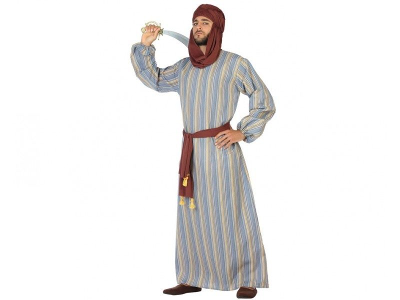 disfraz arabe hombre 800x600 - DISFRAZ DE ARABE GRIS HOMBRE