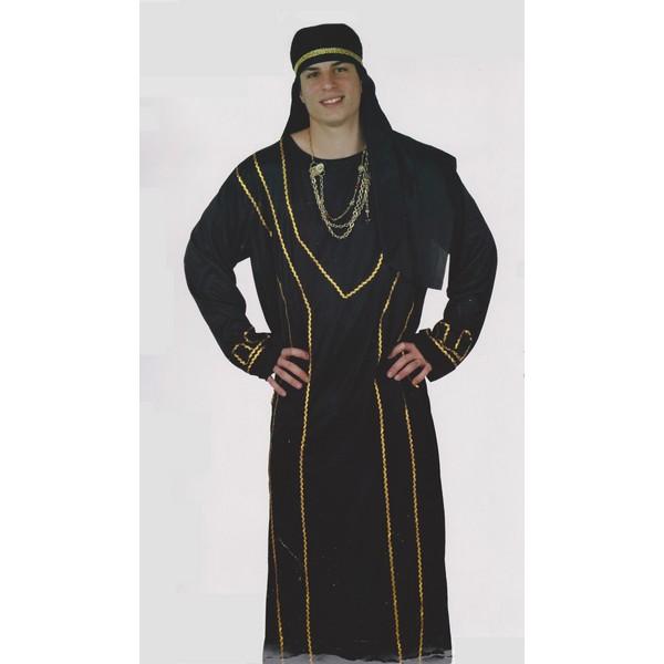 disfraz arabe jeque árabe egro hombre - DISFRAZ DE JEQUE ARABE NEGRO HOMBRE