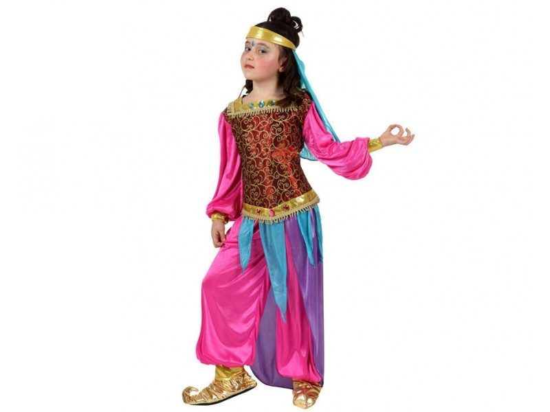 disfraz arabe niña 800x600 - DISFRAZ ÁRABE FUCSIA NIÑA