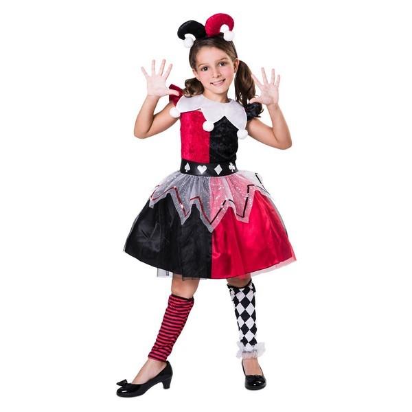 disfraz arlequina roja niña - DISFRAZ DE ARLEQUINA ROJO NIÑA