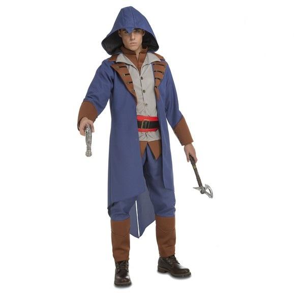 disfraz asesino azul hombre 203955 - DISFRAZ DE EL ASESINO AZUL HOMBRE