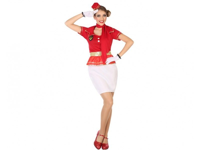 disfraz azafata mujer 1 800x600 - DISFRAZ DE AZAFATA B/R MUJER