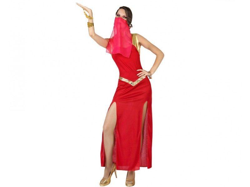 disfraz bailarina arabe mujer 800x600 - DISFRAZ BAILARINA ARABE ROJO MUJER
