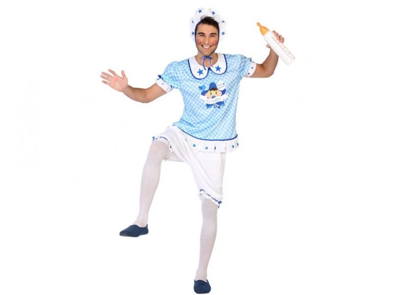 disfraz bebé azul hombre - DISFRAZ DE BEBE AZUL HOMBRE