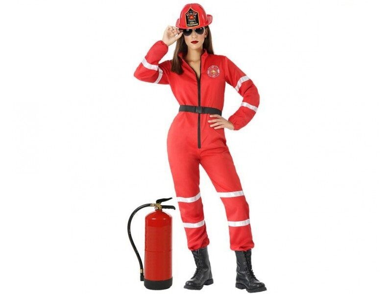 disfraz bombera mujer 2 800x600 - DISFRAZ DE BOMBERA ROJO MUJER