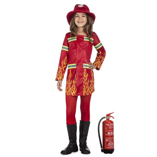 disfraz bombera niña - DISFRAZ DE BOMBERA NIÑA
