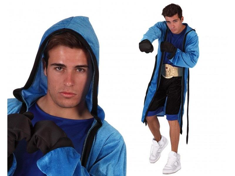 disfraz boxeador hombre. - DISFRAZ DE BOXEADOR AZUL HOMBRE
