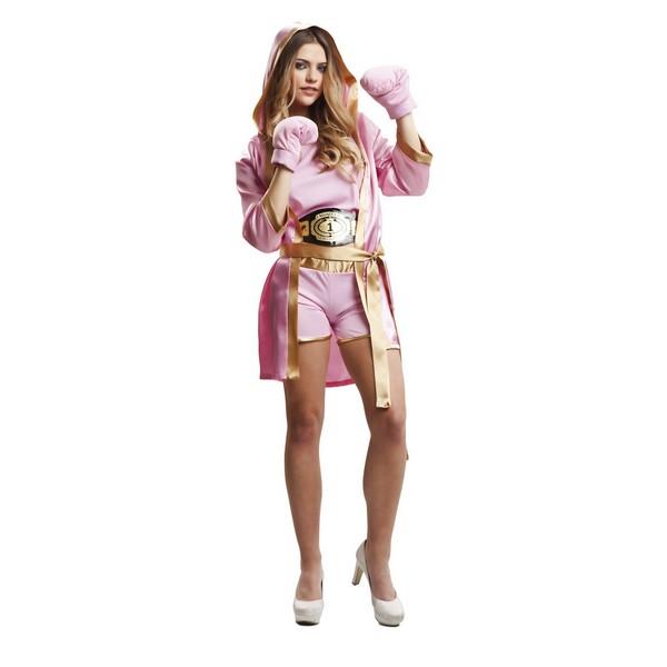 disfraz boxeadora rosa mujer - DISFRAZ DE BOXEADORA ROSA MUJER