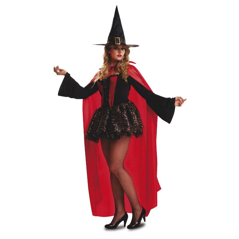 disfraz bruja roja mujer - DISFRAZ DE BRUJA ROJA CON CAPA ADULTO