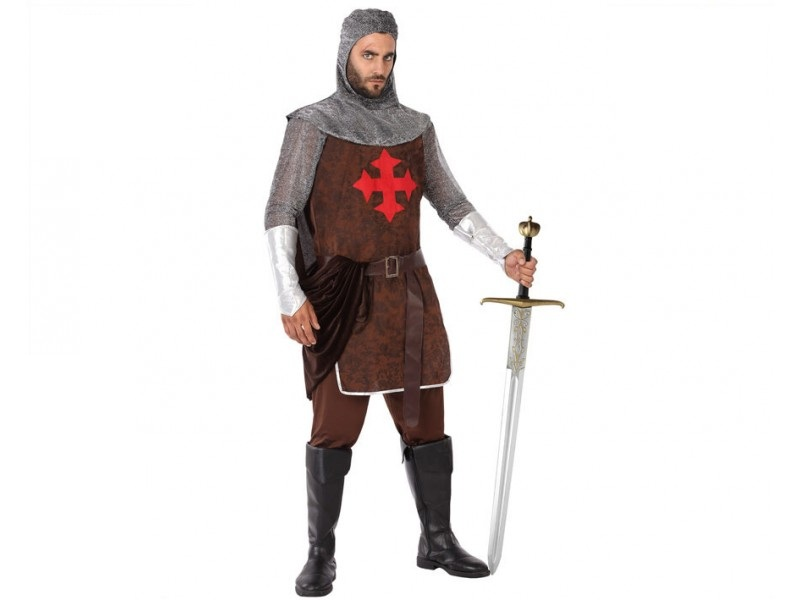 disfraz caballero cruzadas hombre 1 - DISFRAZ DE CABALLERO CRUZADAS HOMBRE