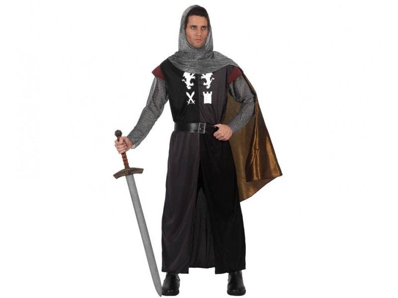 disfraz caballero cruzadas hombre - DISFRAZ DE CABALLERO CRUZADAS NEGRO
