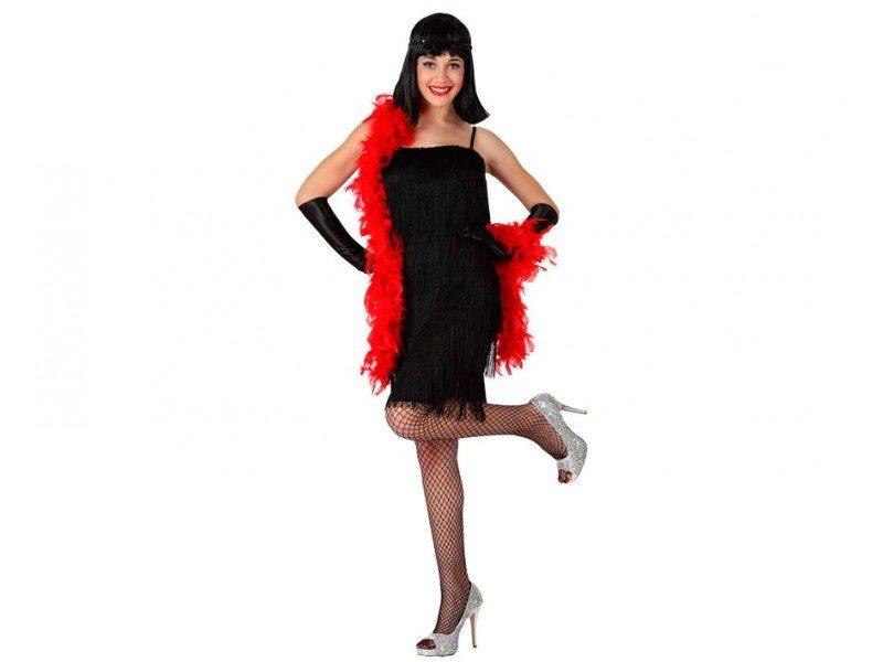disfraz cabaret negro mujer 800x600 - DISFRAZ DE CHARLESTÓN NEGRO MUJER