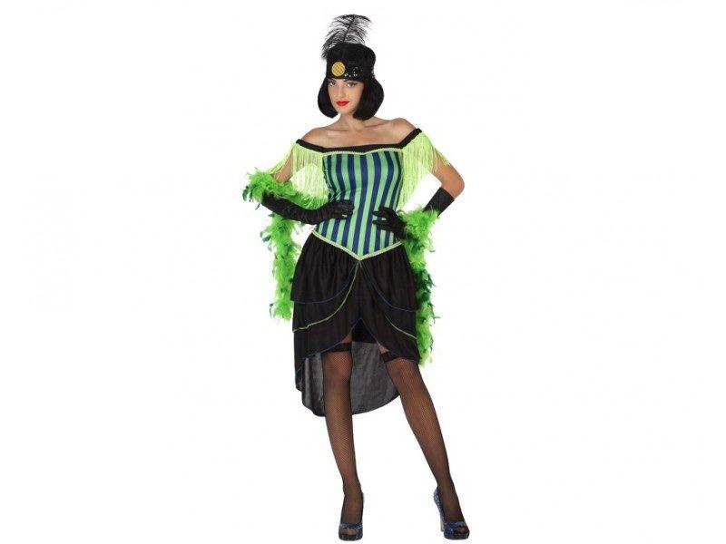 disfraz cabaret verde mujer 800x600 - DISFRAZ DE CABARET VERDE MUJER