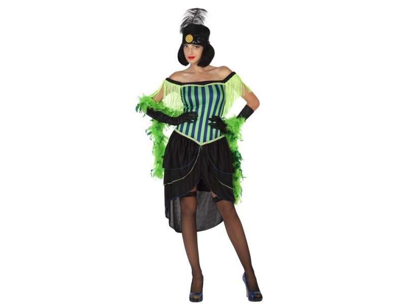 disfraz cabaret verde mujer - DISFRAZ DE CABARET VERDE MUJER