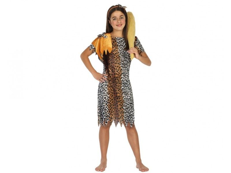 disfraz cavernicola niña 800x600 - DISFRAZ DE CAVERNICOLA TROGLODITA NIÑA