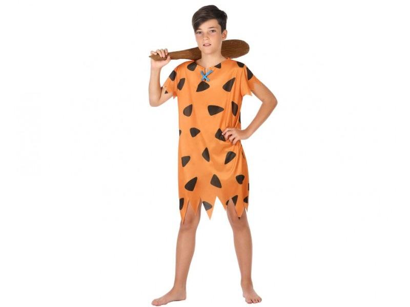 disfraz cavernicola niño 1 - DISFRAZ DE PEDRO PICAPIEDRA NIÑO