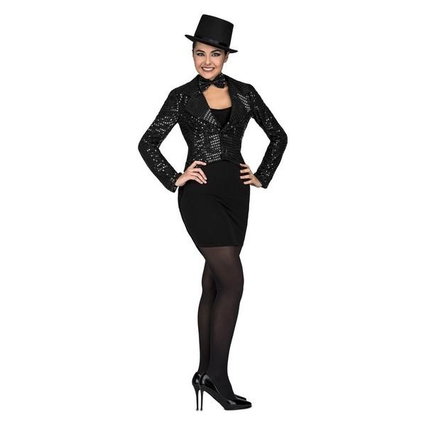 disfraz chaqué negro mujer - DISFRAZ DE CHAQUÉ NEGRO MUJER