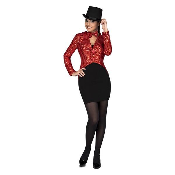 disfraz chaqué rojo mujer - DISFRAZ DE CHAQUÉ ROJO MUJER