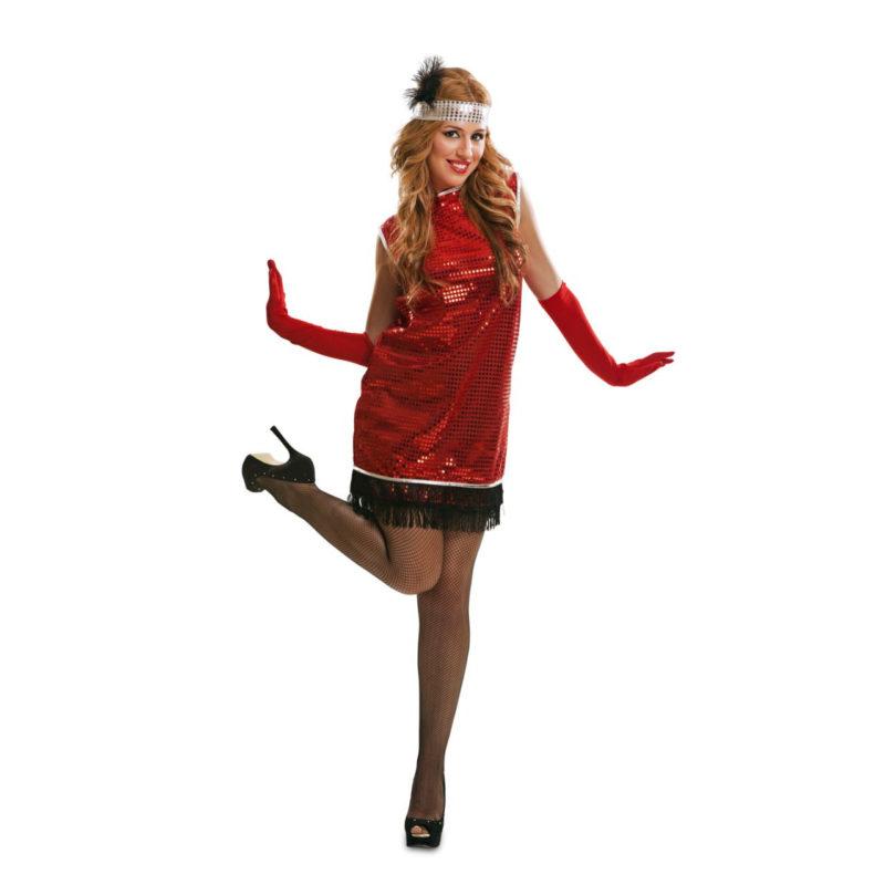 disfraz charlestón mujer 800x800 - DISFRAZ DE CHARLESTÓN ROJO MUJER