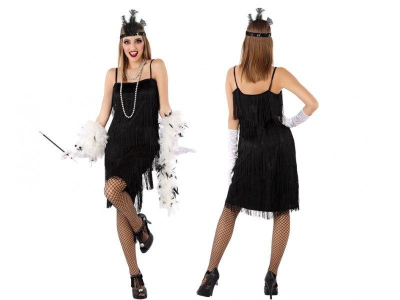 disfraz charlestón negro mujer 1 800x600 - DISFRAZ CHARLESTÓN NEGRO MUJER