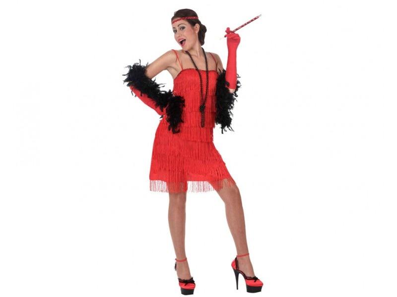 disfraz charlestón rojo mujer - DISFRAZ CHARLESTON ROJO MUJER