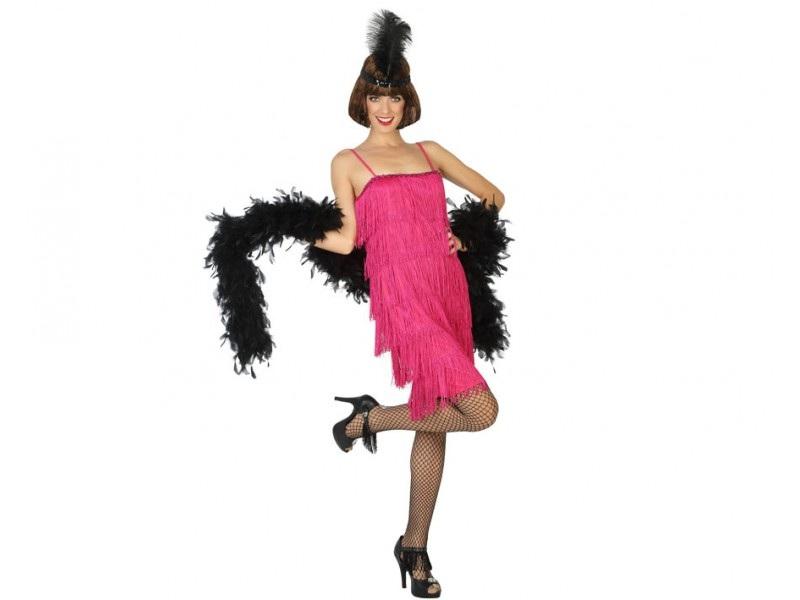 disfraz charlestón rosa mujer - DISFRAZ DE CHARLESTON ROSA MUJER