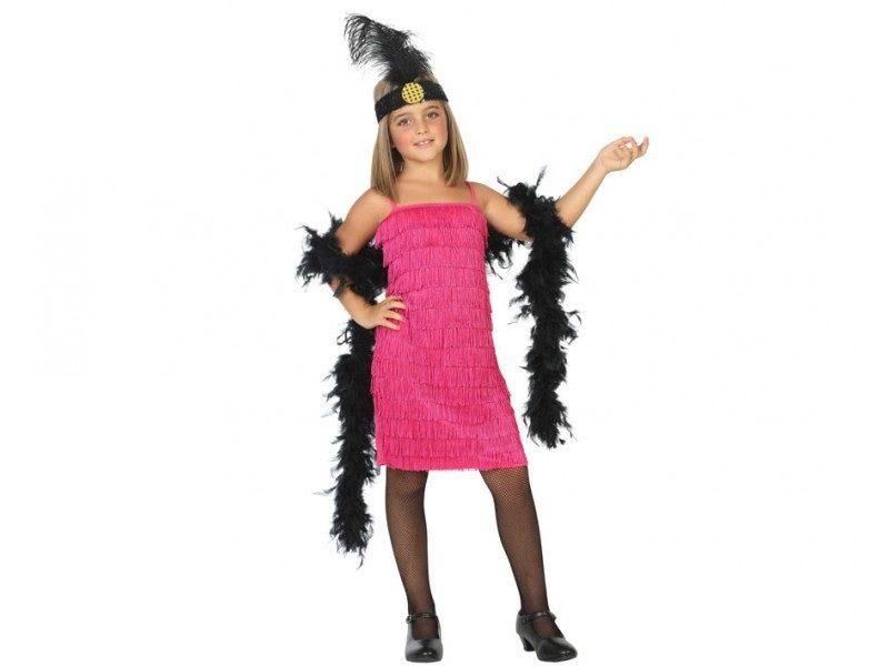 disfraz charleston rosa niña 800x600 - DISFRAZ DE CHARLESTÓN ROSA NIÑA