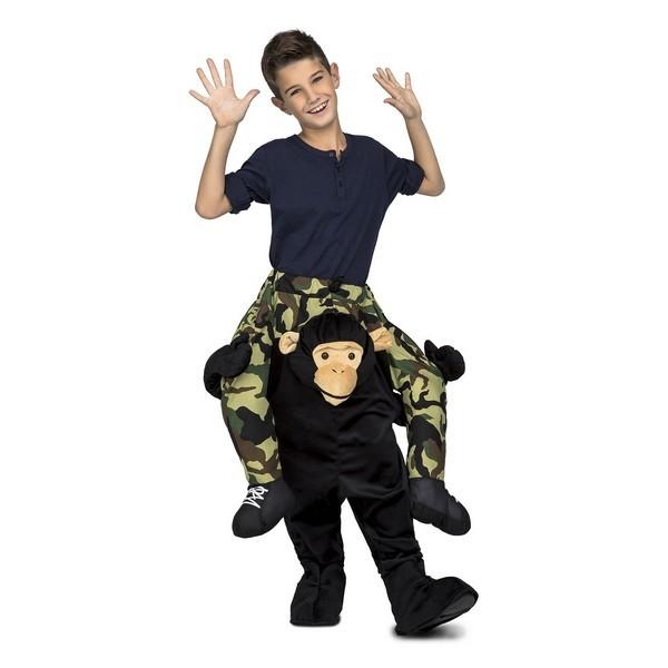 disfraz chimpancé a hombros infantil - DISFRAZ DE CHIMPANCE A HOMBROS UNISEX