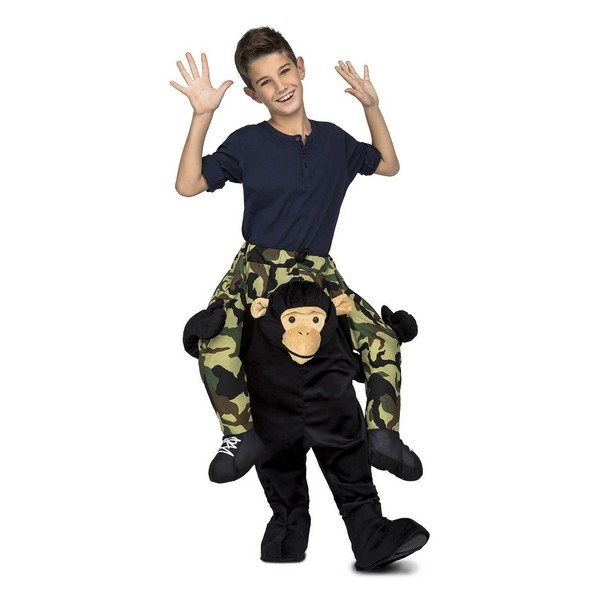 disfraz chimpancé a hombros infantil - DISFRAZ DE CHIMPANCÉ A HOMBROS UNISEX