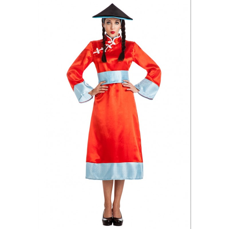 disfraz china mujer - DISFRAZ DE CHINA ROJO MUJER