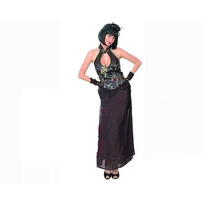 disfraz china negro sexy mujer - DISFRAZ DE CHINA NEGRO SEXY MUJER