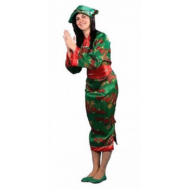 disfraz china verde mujer - DISFRAZ DE CHINA VERDE MUJER