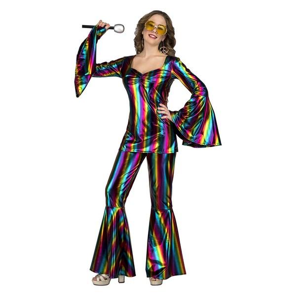 disfraz conjunto disco mujer - DISFRAZ CONJUNTO DISCO RAINBOW MUJER