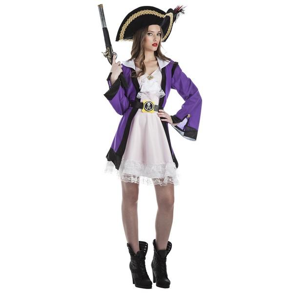 disfraz corsaria lila mujer - DISFRAZ DE CORSARIA LILA MUJER