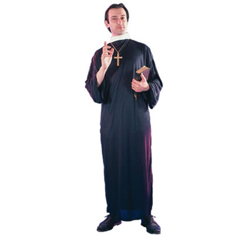 disfraz cura capellán adulto - DISFRAZ DE CURA CAPELLÁN ADULTO