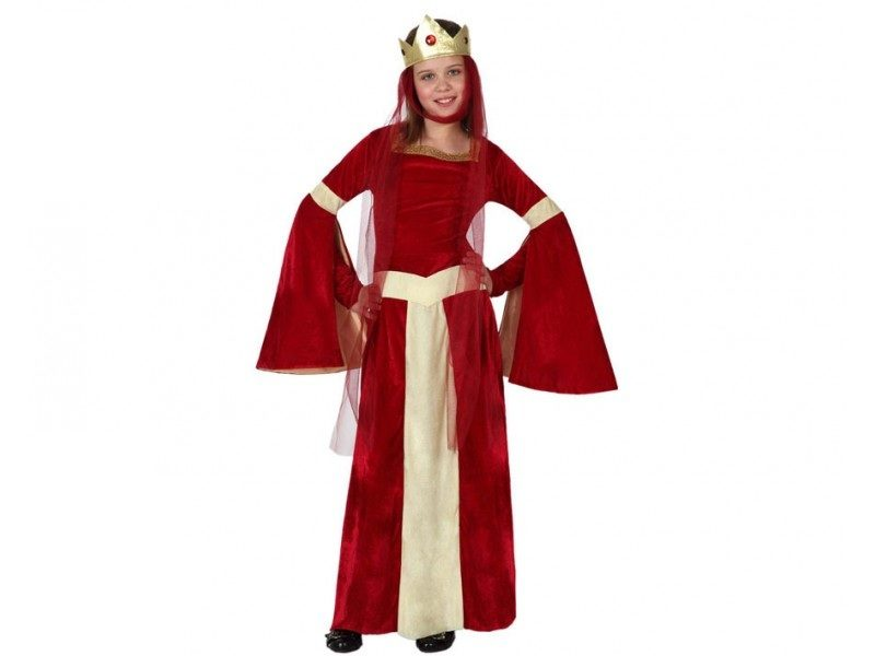 disfraz dama medieval niña 800x600 - DISFRAZ DE DAMA MEDIEVAL NIÑA