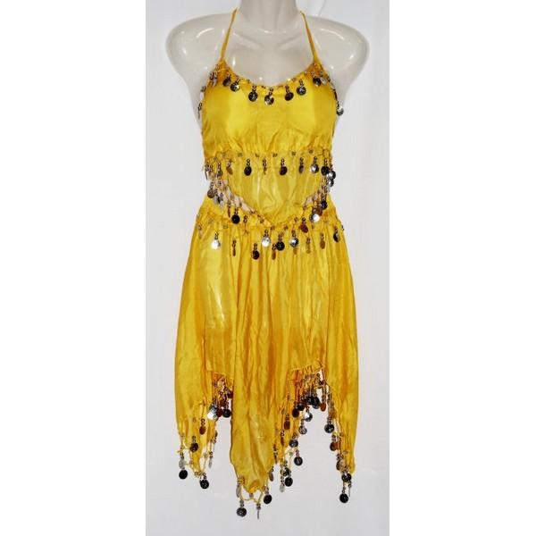 disfraz danza del vientre amarillo infantil - DISFRAZ DANZA DEL VIENTRE AMARILLO NIÑA