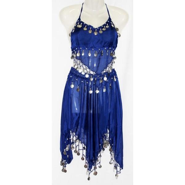 disfraz danza del vientre falda azul - DANZA DEL VIENTRE AZUL MUJER